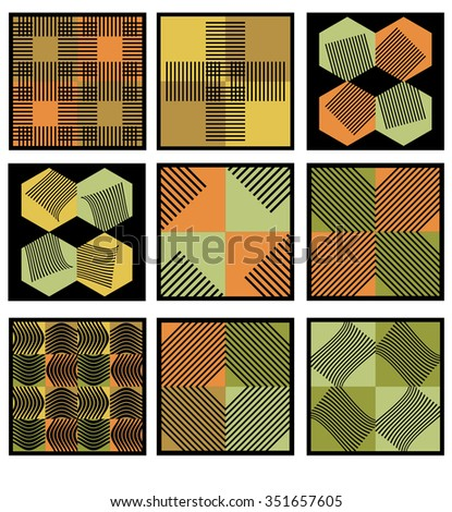 vector set for design 9 pattern - stock vector