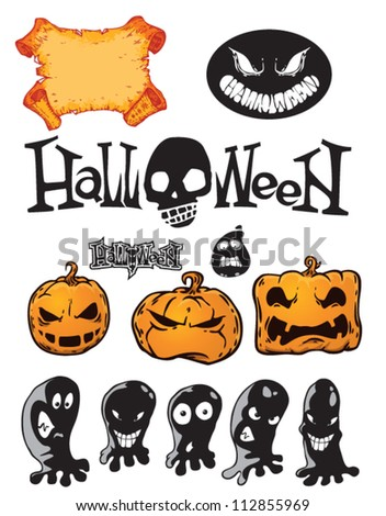 vector set for halloween design