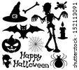 Vector set. Halloween silhouettes. - stock vector