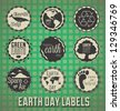 Vector Set: Happy Earth Day Labels - stock photo