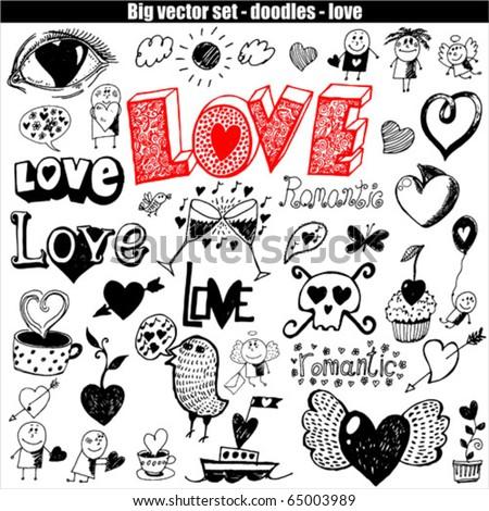 vector set - love - stock vector