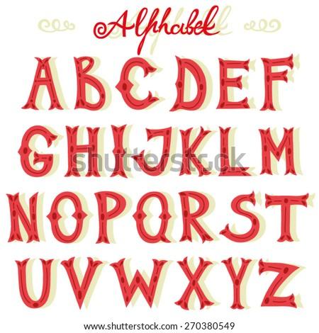 Vector set of alphabet.  - stock vector