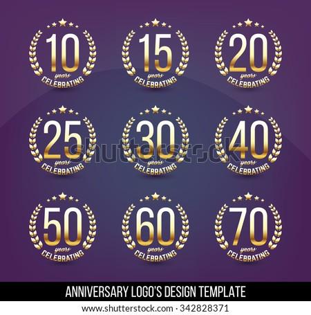 Golden jubilee stock images royalty free images vectors vector set of anniversary signs symbols ten fifteen twenty thirty yadclub Gallery
