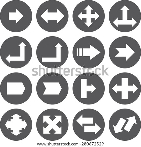 Vector set of arrows. Eps-10. - stock vector