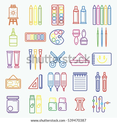 Vector set artist tools drawing painting stock photo photo vector illustration 539470387 shutterstock