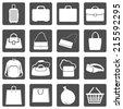 Vector Set of Bags Icons - stock vector