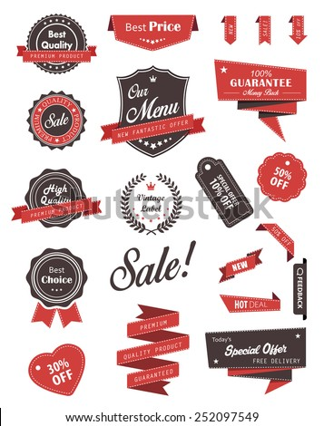 Vector set of banners, labels, ribbons and stickers./Vector set of banners, labels, ribbons and stickers./Vector set of banners, labels, ribbons and stickers.