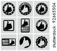 Vector set of best choice icons. - stock vector