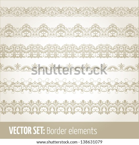 Vector set of border elements and page decoration Set #15