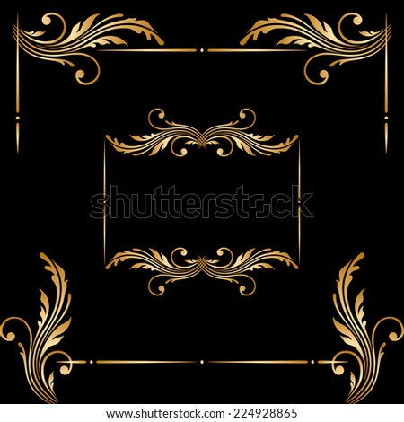 Vector set of borders, decorative elements for design, print, embroidery. - stock vector