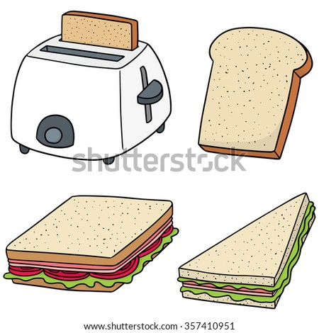 vector set of bread - stock vector