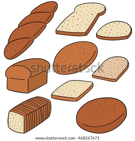 vector set of bread