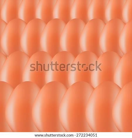 Vector Set of Brown Organic Eggs. Eggs Background. - stock vector