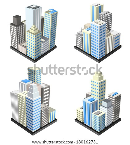Vector set of buildings.