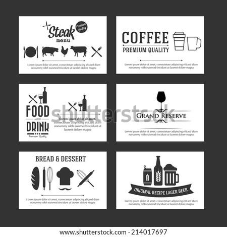 Vector set business cards cafe restaurant stock vector 214017697 vector set of business cards for cafe and restaurant reheart Choice Image