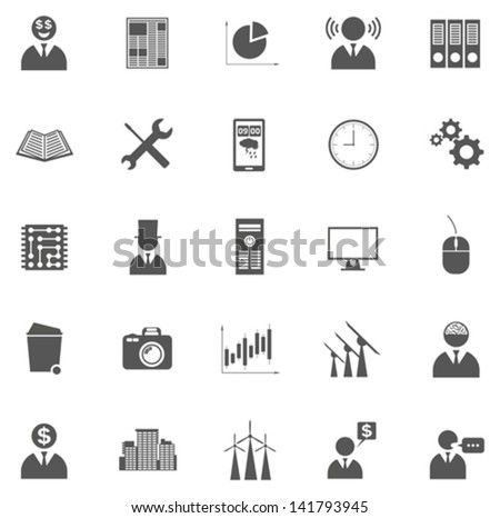 Vector set of business icons, symbols and pictograms