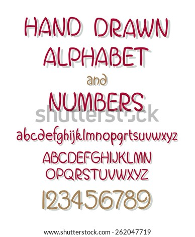 vector set of calligraphic acrylic or ink alphabet. ABC for your design.  - stock vector