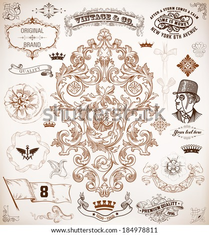 Baroque stock photos images pictures shutterstock for Baroque design elements