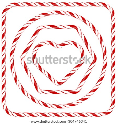 Vector Set of Candy Frames Isolated on White Background - stock vector