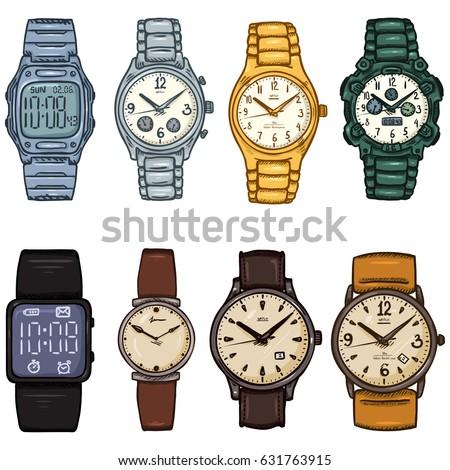 Nikiteev konstantin 39 s portfolio on shutterstock for Cartoon watches