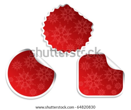 Vector set of Christmas stickers