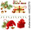 Vector. Set of christmas symbols. - stock vector