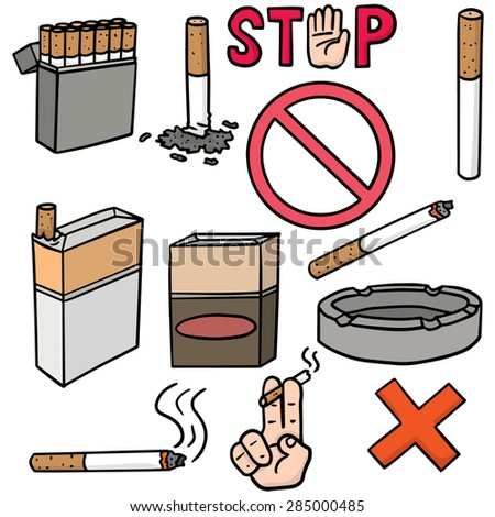 vector set of cigarettes - stock vector