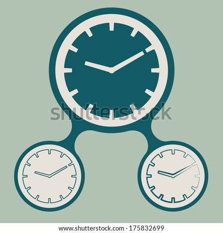 vector set of clock icon