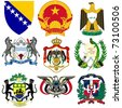 vector set of coats of arms of the world #2 - stock vector