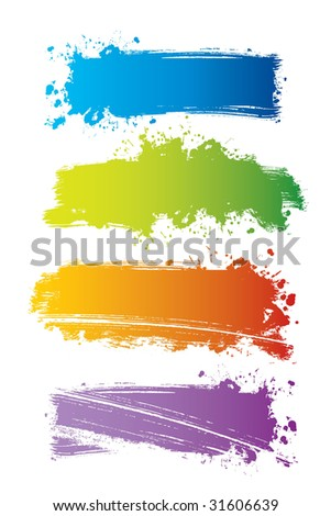 Vector set of color banners, vector