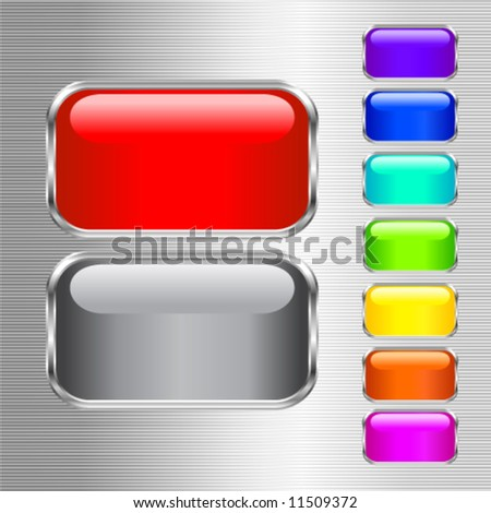 Vector set of colored buttons