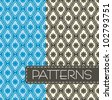 Vector set of colorful seamless pattern - stock vector