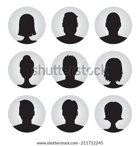 vector set of colorful user profile illustrations, icons. Man and woman.Male and female avatar profile picture set - stock vector