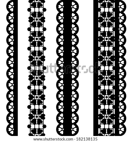 Vector Borders Black Lace
