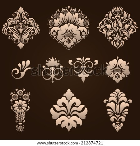 Baroque elements stock photos images pictures for Baroque design elements