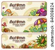 Vector set of decorative autumnal banners. Design elements. part 2 - stock vector