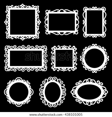 Vector set of decorative ornamental frames.  - stock vector