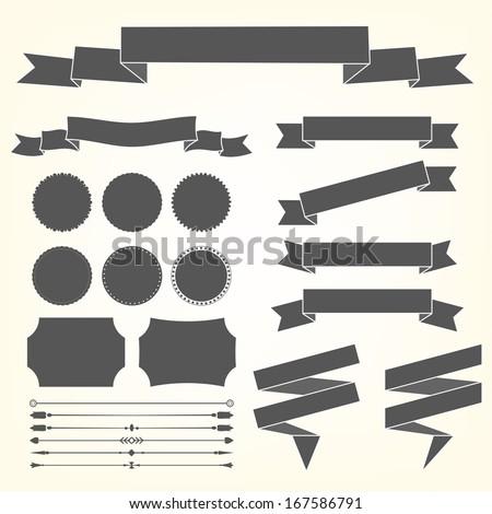 Vector set of design elements - stock vector