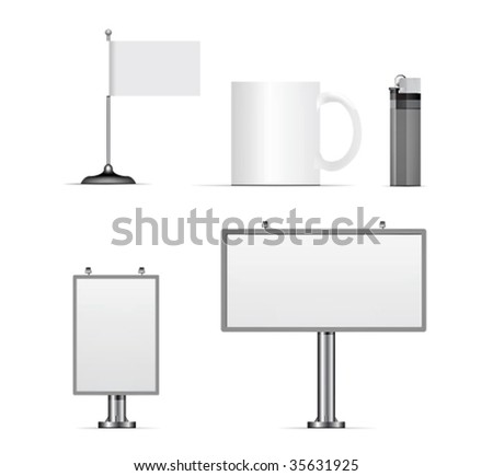 Vector set of design elements for corporate identity. Easily put your logo and redaction. - stock vector