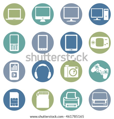 Vector Set of Devices Icons