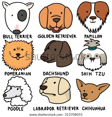 vector set of dogs - stock vector