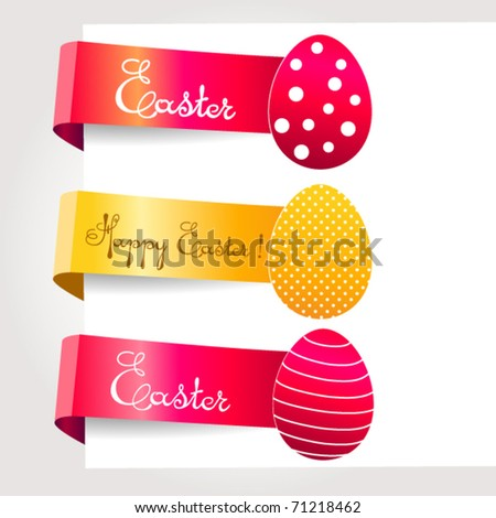 Vector set of easter  tags - stock vector