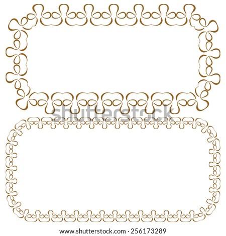 Vector set of elegant rectangular beautiful frames - stock vector