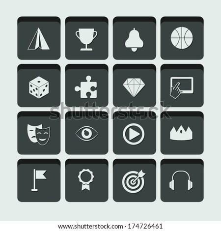 Vector Set Entertainment Icons Stock Vector 174726461 Shutterstock