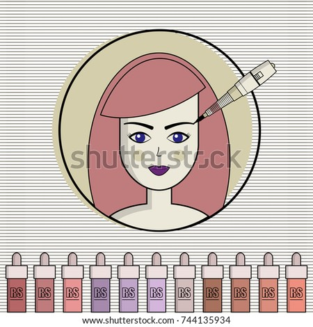 Vector set equipment permanent makeup used stock vector hd royalty vector set of equipment for permanent make up used for icons on the site reheart Image collections