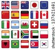 Vector set of Flags world top states - stock photo