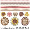 vector set of floral pattern - stock vector