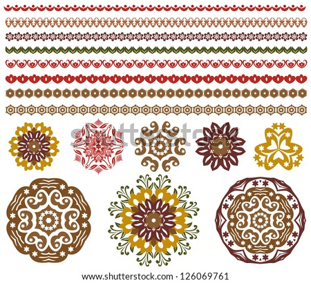 vector set of floral pattern