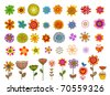 VECTOR - Set of 41 Flower, very useful for creation of any design - stock vector