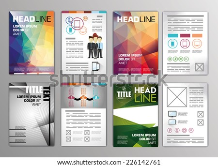 Vector Set Flyers Templates Brochures A4 Vector 226142761 – Flyers Examples